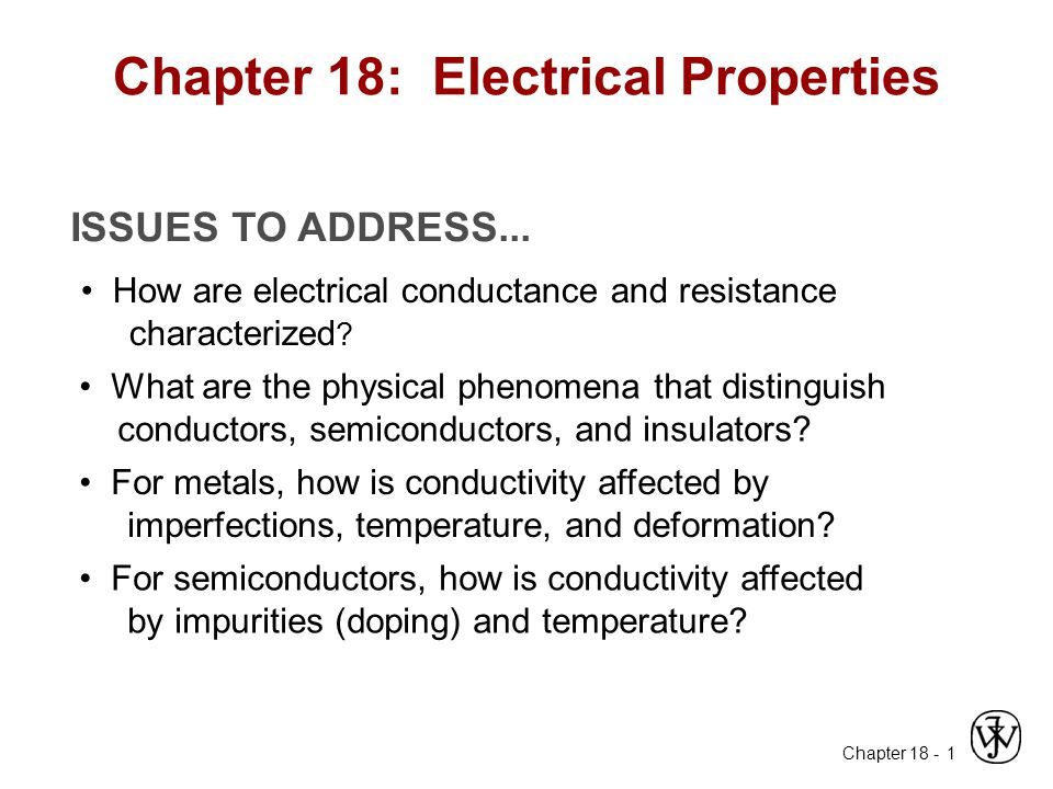 Chapter 18: Electrical Properties