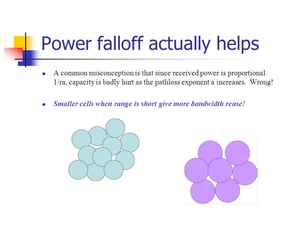 Power falloff actually helps