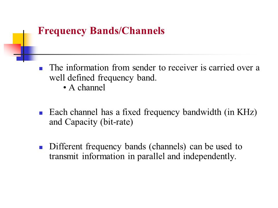 Frequency Bands/Channels
