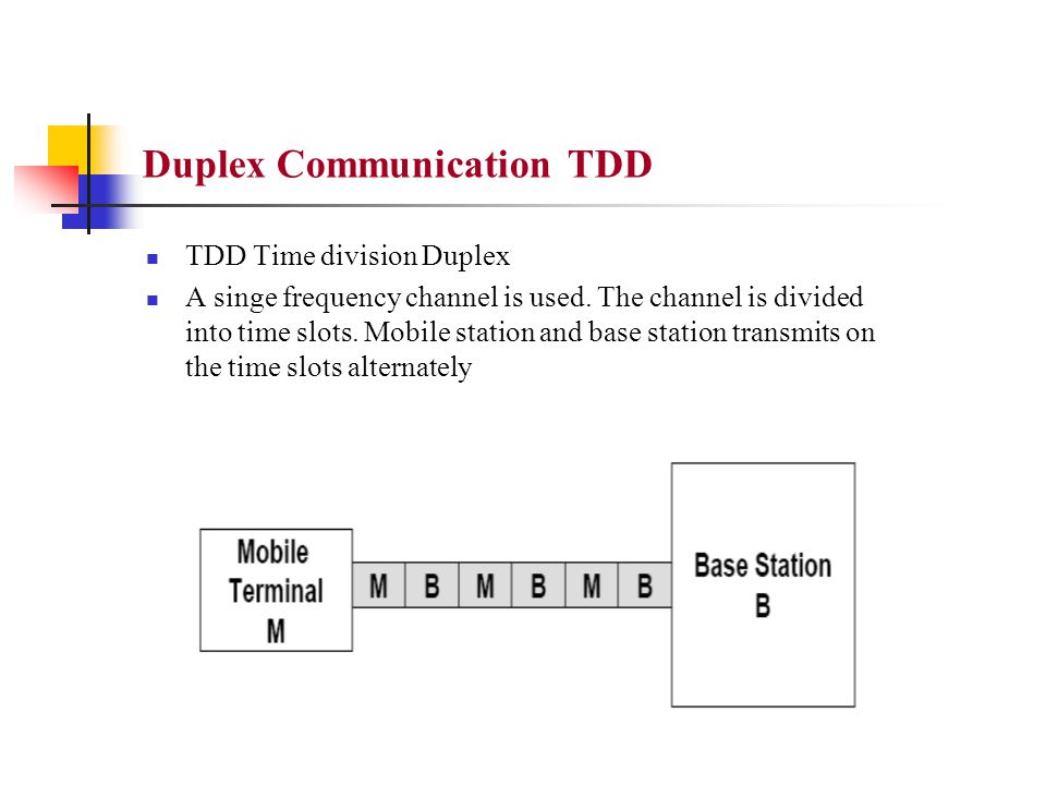 Duplex Communication TDD