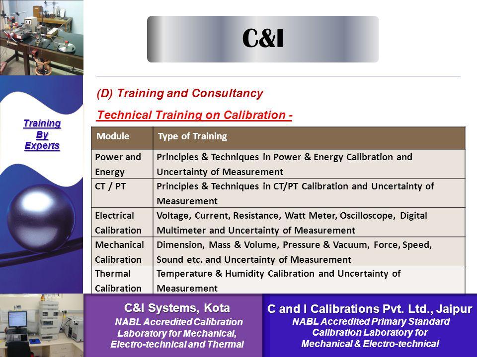C&I Systems, Kota C and I Calibrations Pvt. Ltd., Jaipur