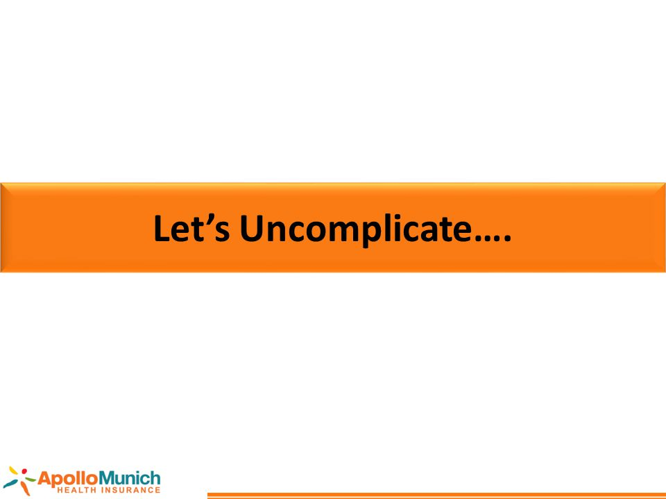 Let's Uncomplicate….