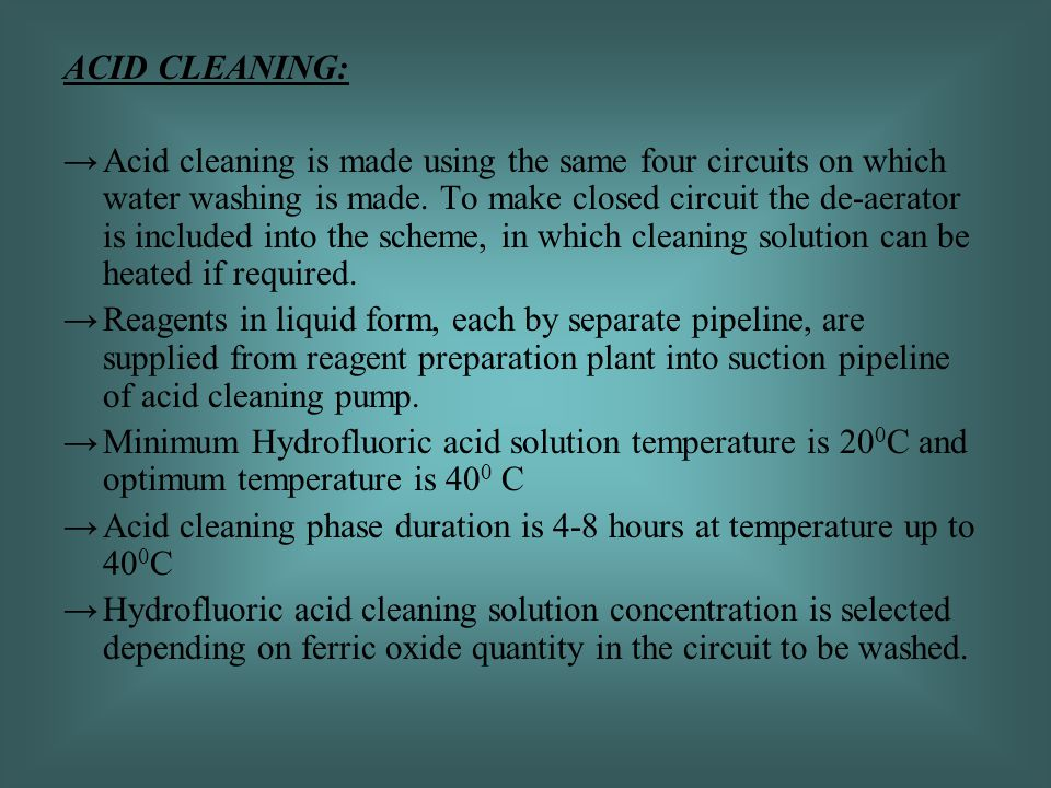 ACID CLEANING: