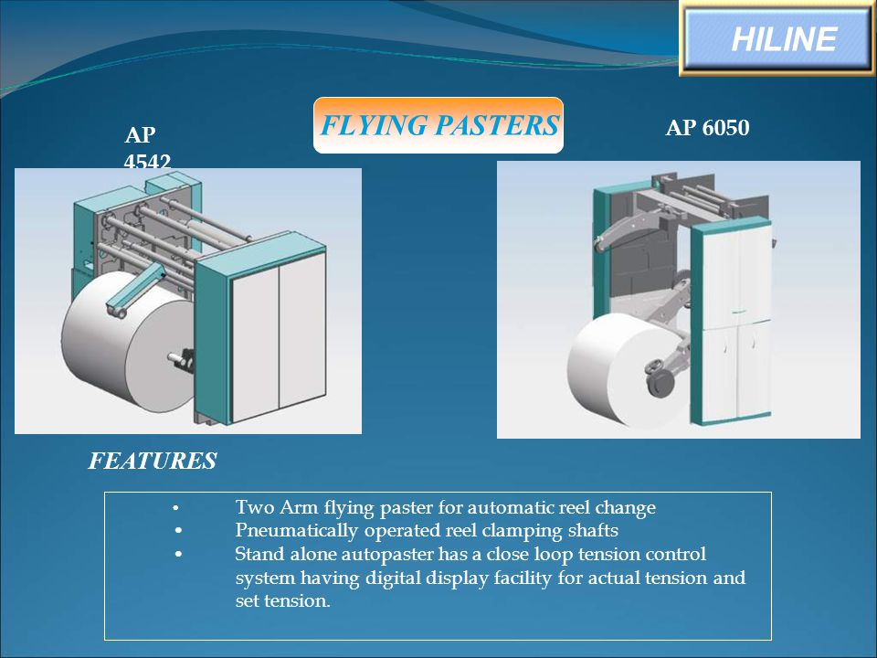HILINE FLYING PASTERS FEATURES AP 6050 AP 4542
