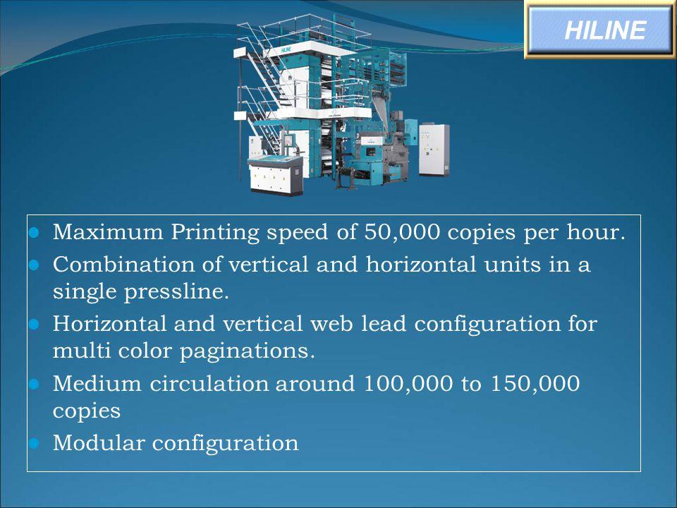 HILINE Maximum Printing speed of 50,000 copies per hour.