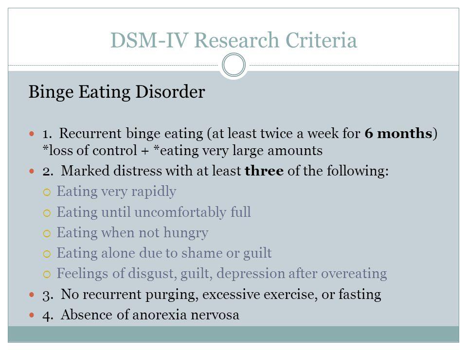 DSM-IV Research Criteria