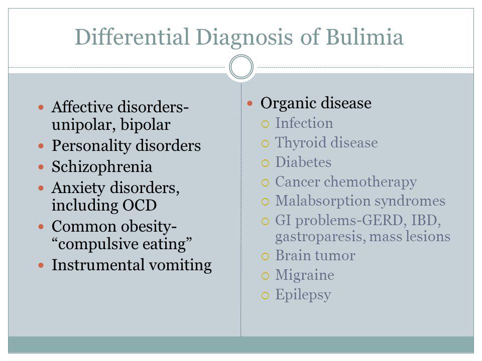 Differential Diagnosis of Bulimia