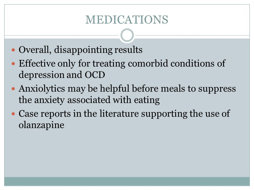 MEDICATIONS Overall, disappointing results