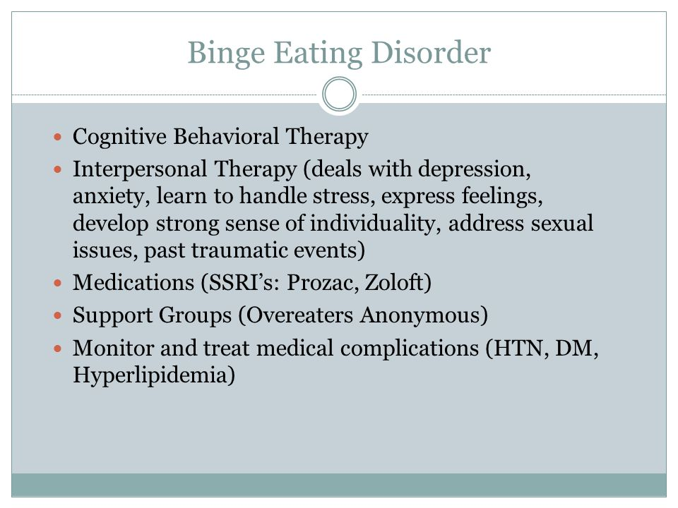 Binge Eating Disorder Cognitive Behavioral Therapy