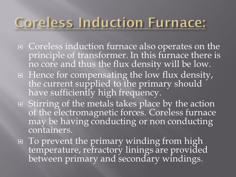 Coreless Induction Furnace: