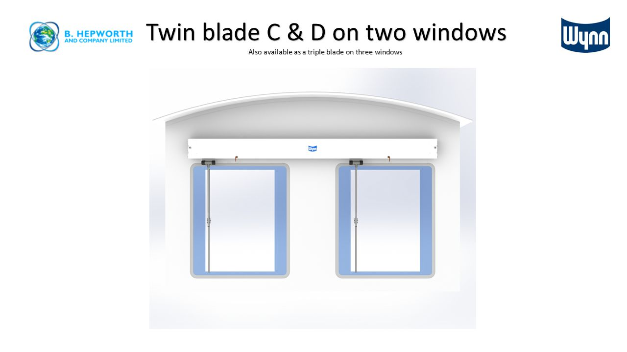Twin blade C & D on two windows