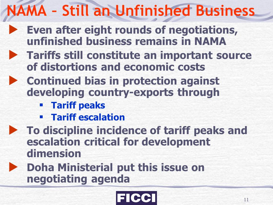 NAMA – Still an Unfinished Business