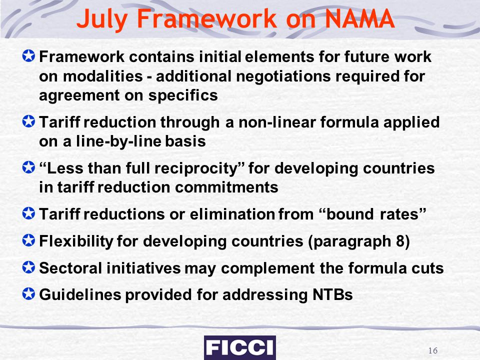 July Framework on NAMA