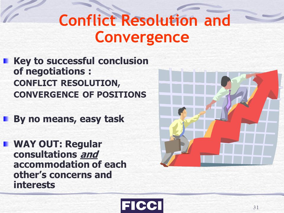 Conflict Resolution and Convergence