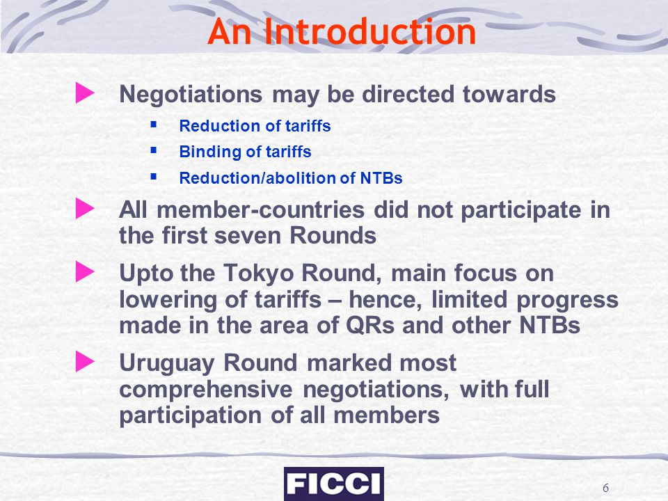 An Introduction Negotiations may be directed towards