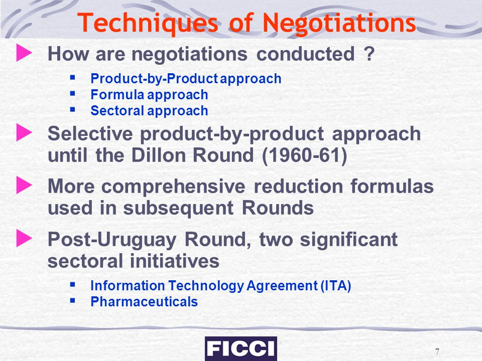 Techniques of Negotiations