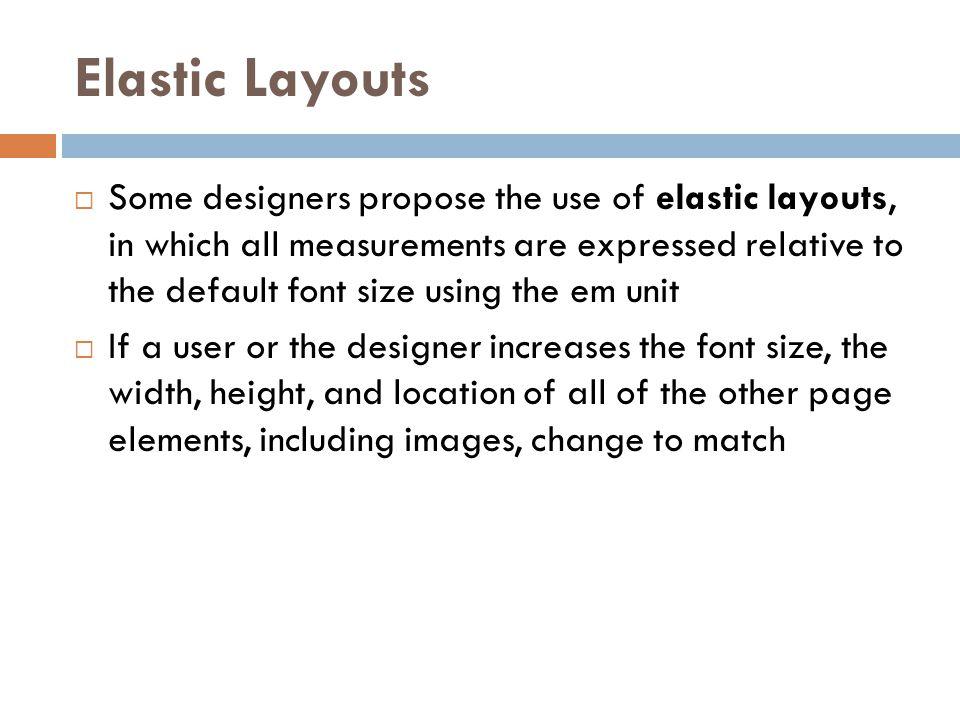Elastic Layouts