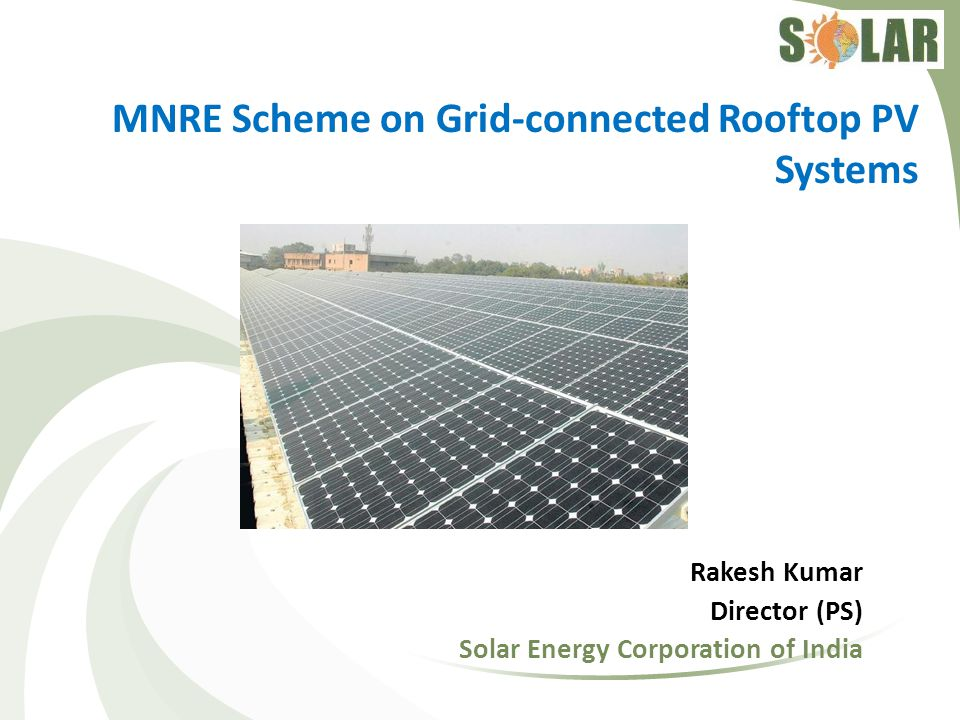 MNRE Scheme on Grid-connected Rooftop PV Systems