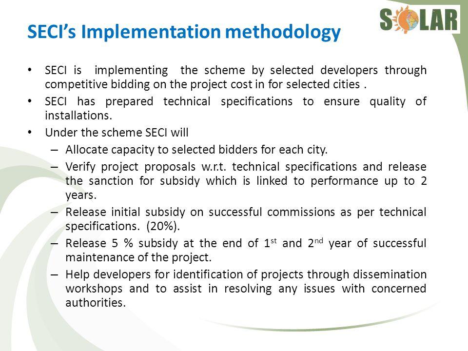 SECI's Implementation methodology