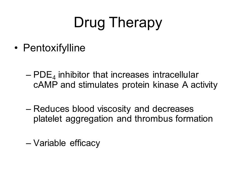 Drug Therapy Pentoxifylline