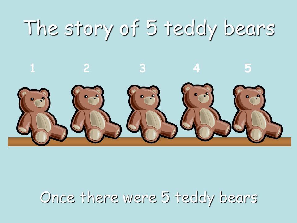 The story of 5 teddy bears