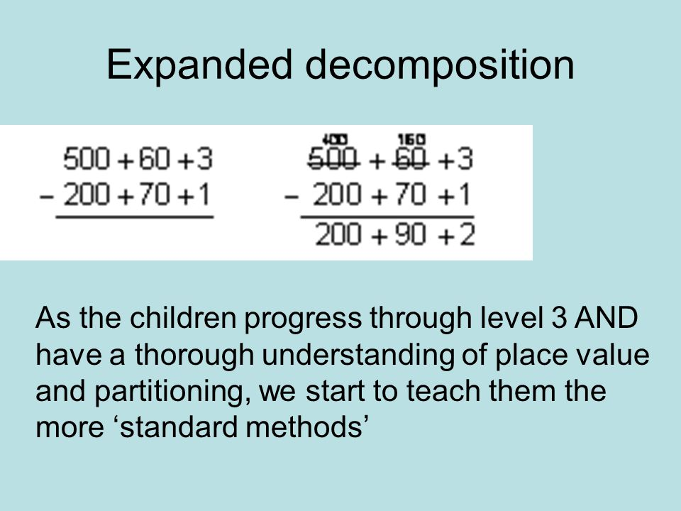 Expanded decomposition