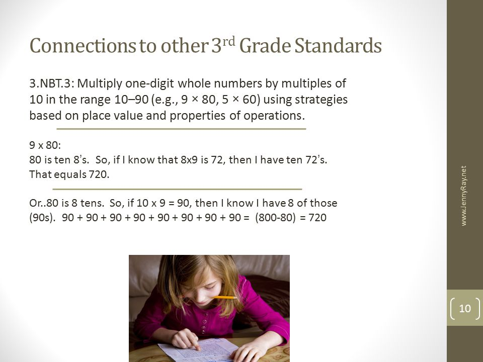 Connections to other 3rd Grade Standards