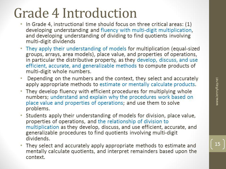 Grade 4 Introduction