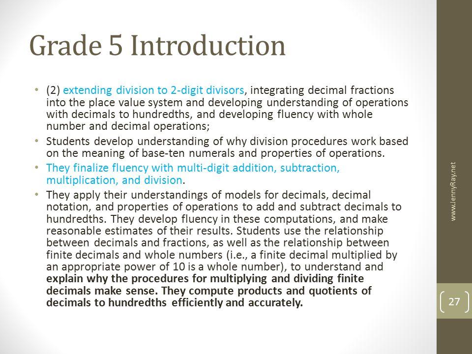 Grade 5 Introduction
