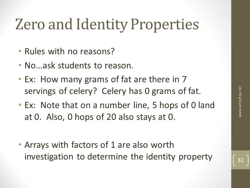 Zero and Identity Properties