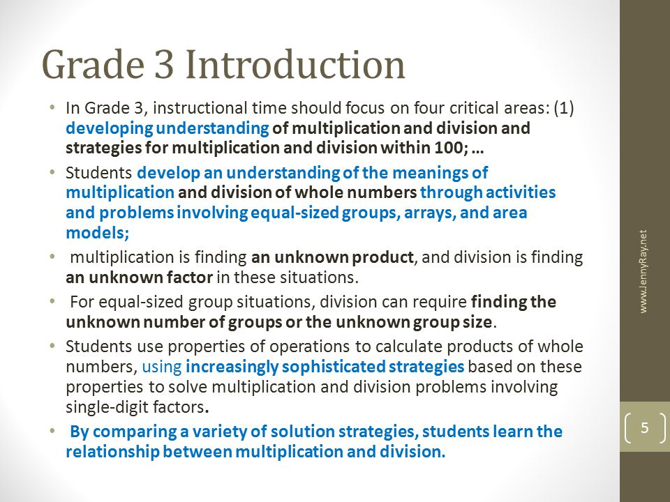 Grade 3 Introduction