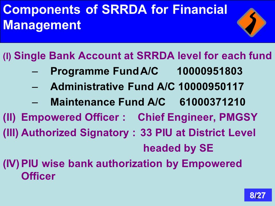 Components of SRRDA for Financial Management