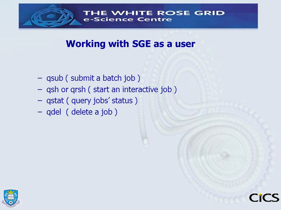 Working with SGE as a user