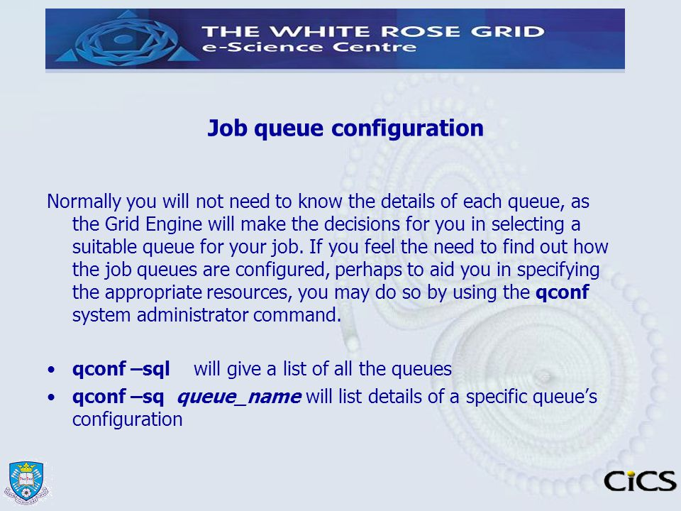 Job queue configuration