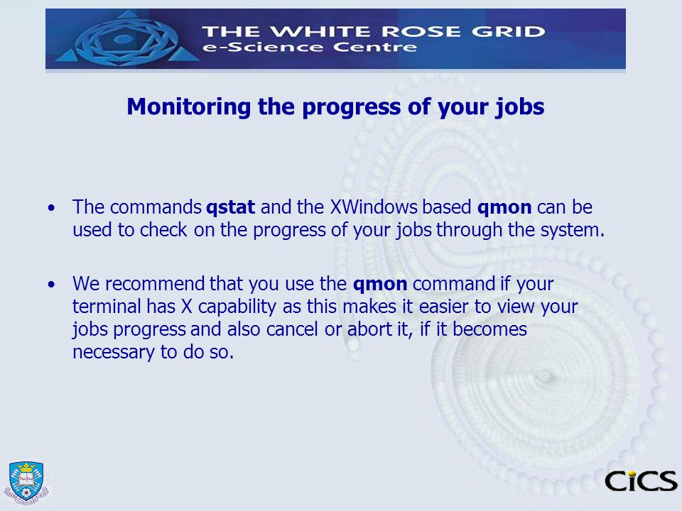 Monitoring the progress of your jobs