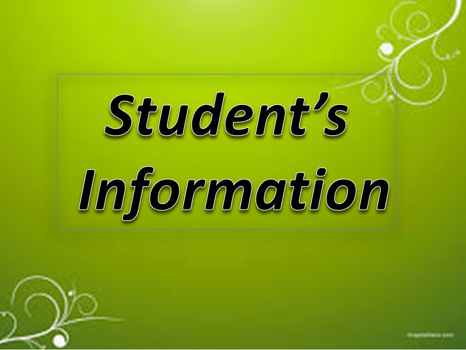 Student's Information