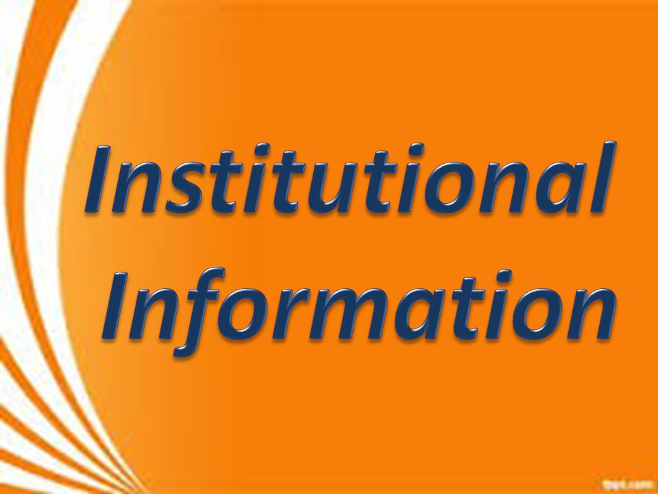Institutional Information