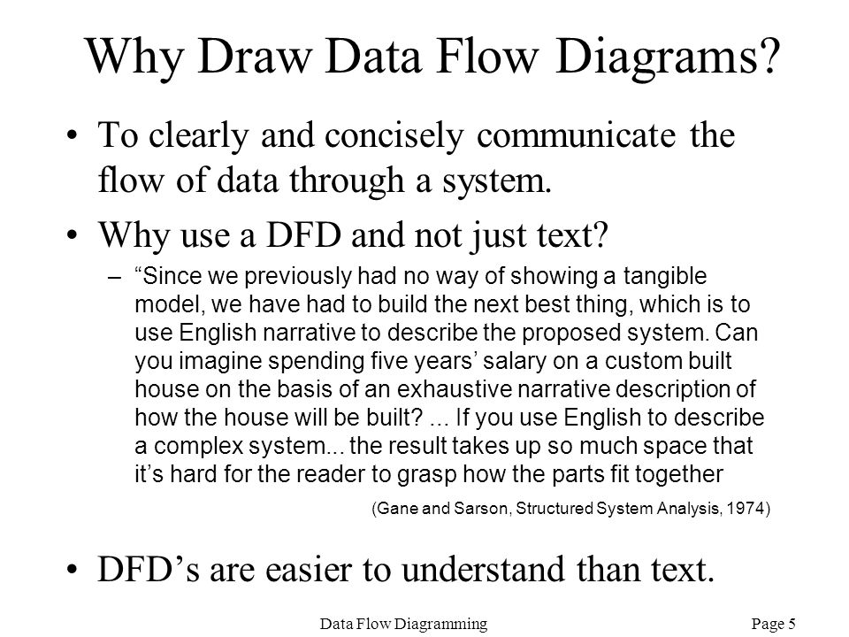 Why Draw Data Flow Diagrams
