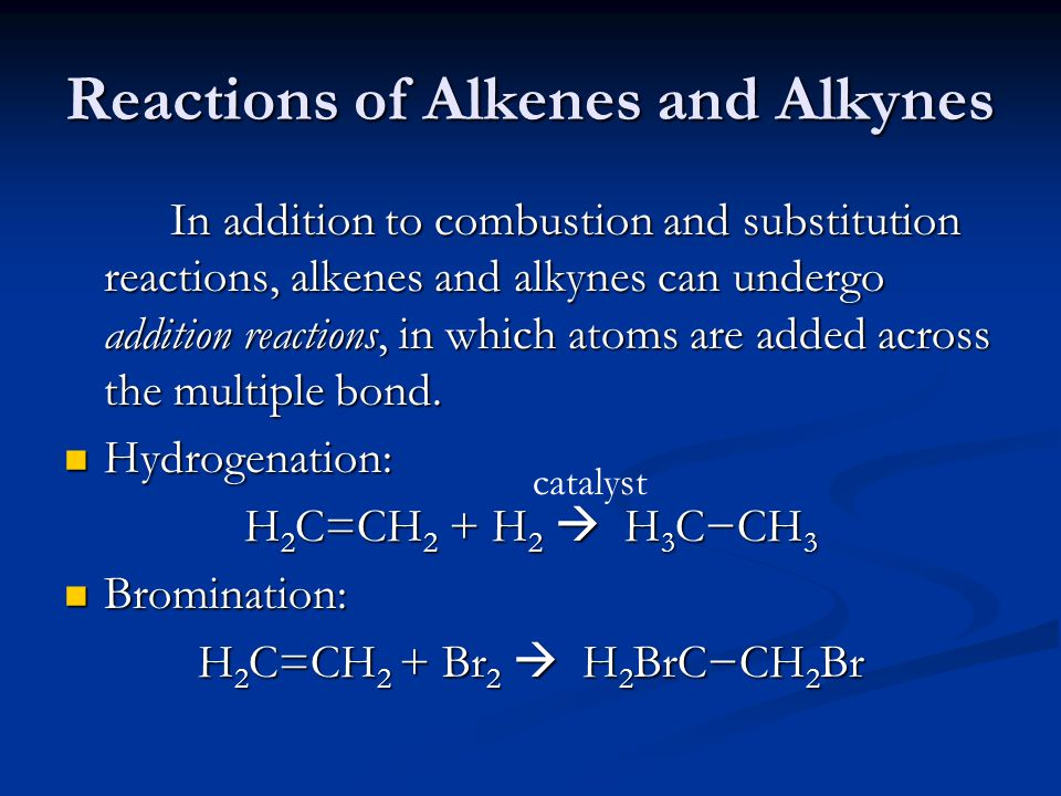 Reactions of Alkenes and Alkynes