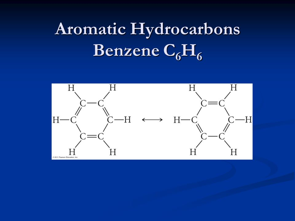 Aromatic Hydrocarbons Benzene C6H6