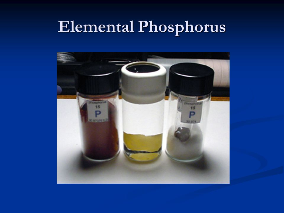 Elemental Phosphorus