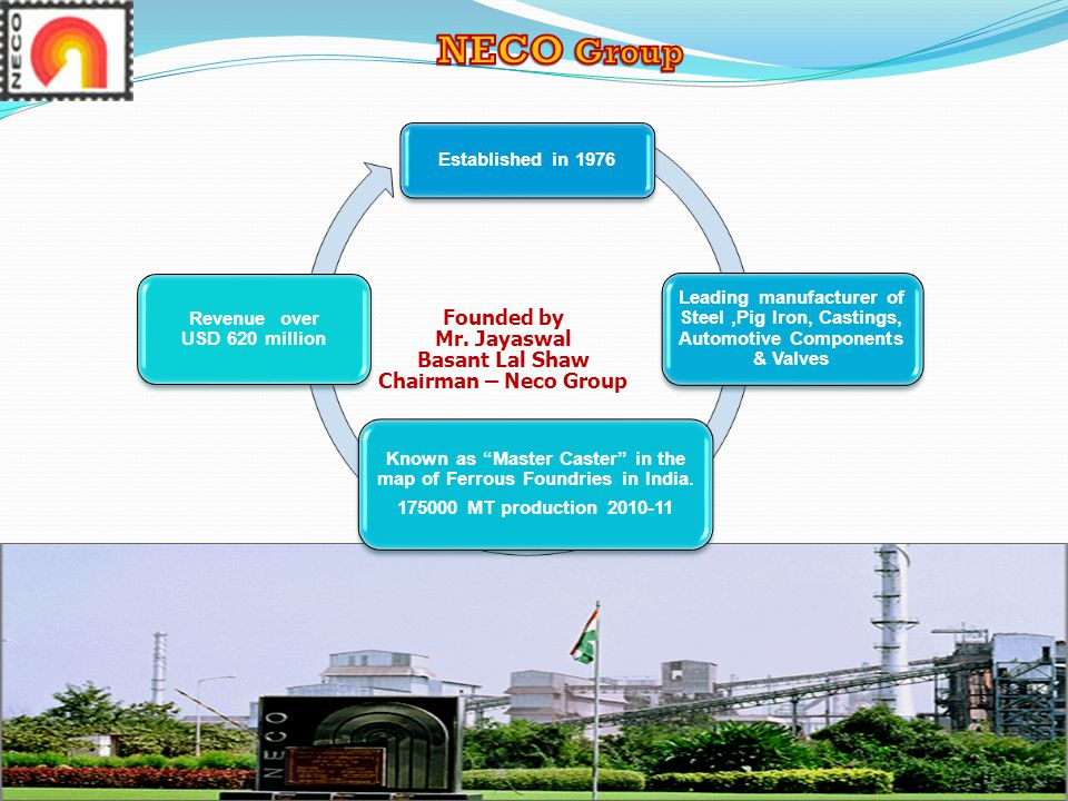 NECO Group Founded by Mr. Jayaswal Basant Lal Shaw