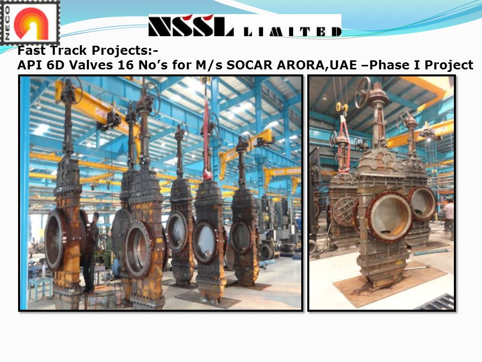 Fast Track Projects:- API 6D Valves 16 No's for M/s SOCAR ARORA,UAE –Phase I Project .