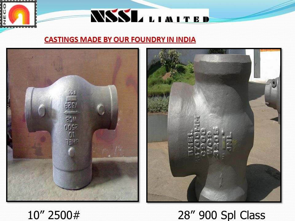 CASTINGS MADE BY OUR FOUNDRY IN INDIA