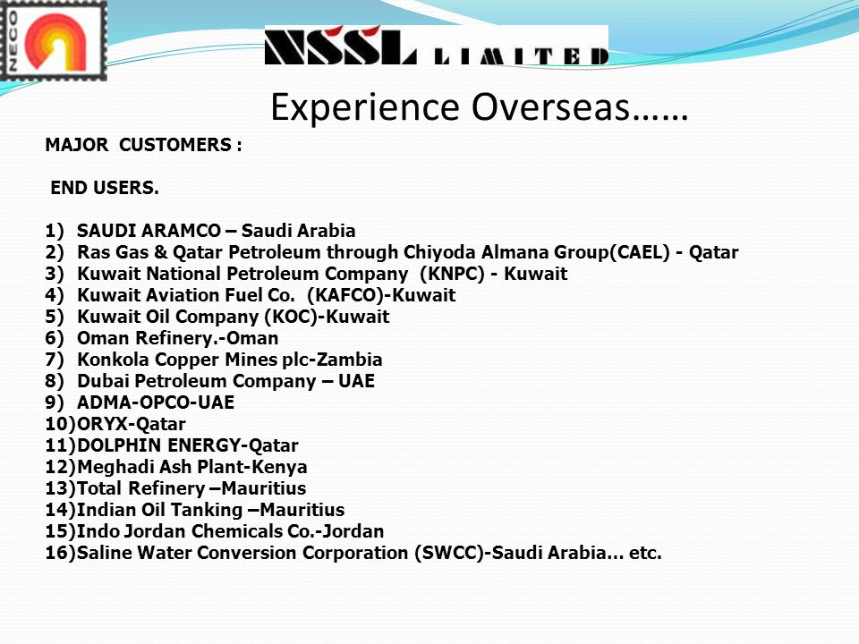 Experience Overseas……