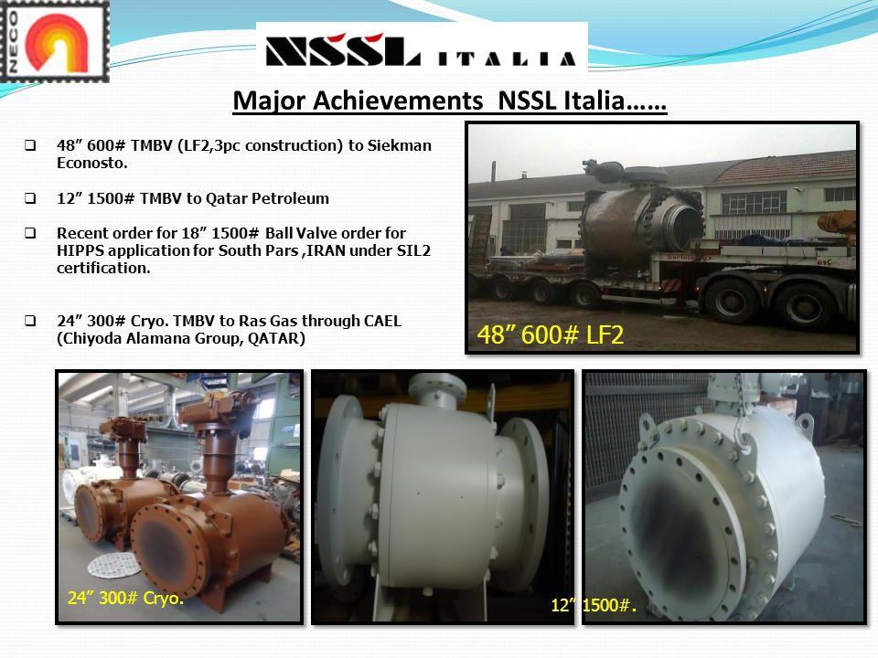 Major Achievements NSSL Italia……