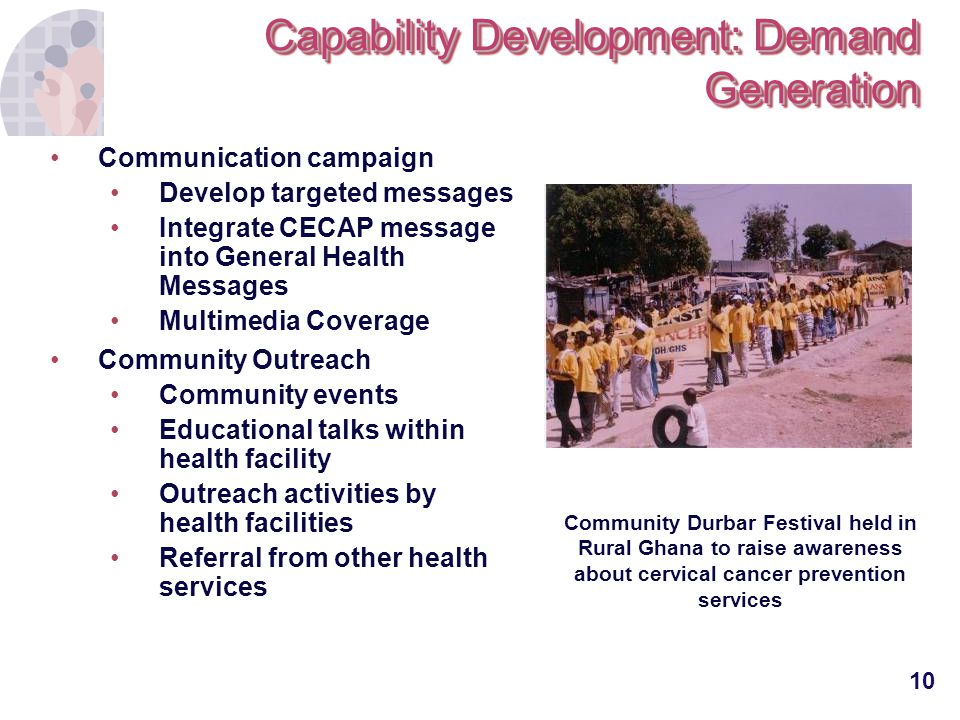 Capability Development: Demand Generation
