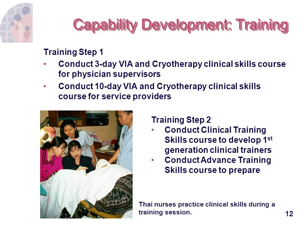 Capability Development: Training