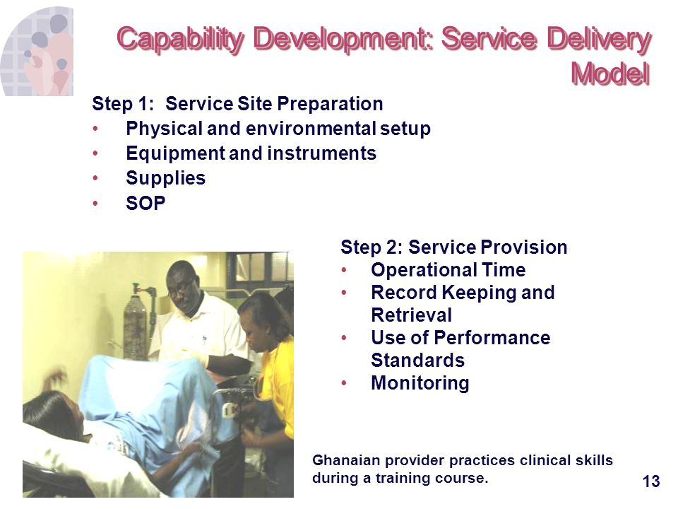 Capability Development: Service Delivery Model