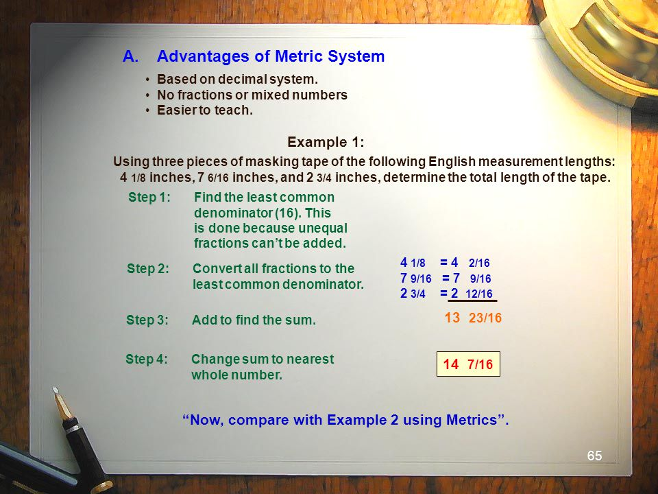 A. Advantages of Metric System
